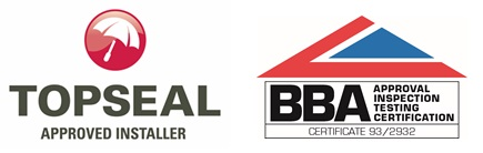 Topseal and Peter Dodds roofing Accreditations